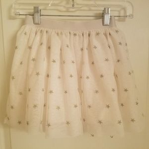Gap Kids White Skirt With Silver Stars